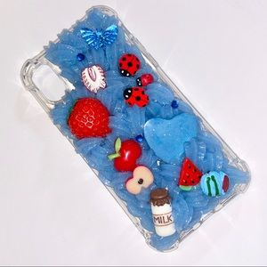 Decoden Whip Blue Pastel iPhone X Phone Case
